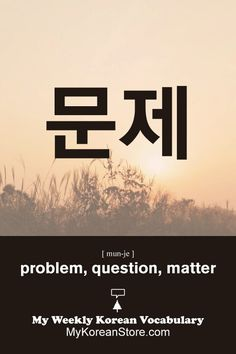 ❋ Learn Korean - Problem / question (mykoreanstore.com)