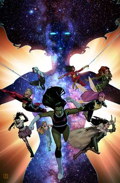 #OfficialInk: A-Force #1 Variant Cover by ZurdoM.deviantart.com