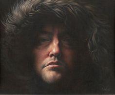 SELF PORTRAIT Oil on Canvas 36 x 31 cm