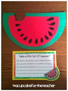 "We made these ""Seed-sational"" watermelons to write about our favorite 3rd grade memories and then  it became the back cover to my students' 3rd grade memory books..."