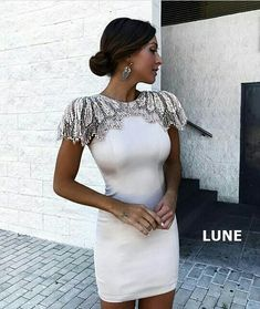 Cheap runway dress, Buy Quality bandage dress directly from China party dresses Suppliers: Adyce Fashion Bandage Dress 2018 Women Celebrity Evening Party Dresses Vestidos Sexy Beads Embellished Mini Runway Dress Club Dresses, Short Dresses, Prom Dresses, Formal Dresses, Cheap Dresses, Dresses Elegant, Beautiful Dresses, White Bandage Dress, White Dress