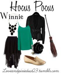 Hocus Pocus: Winnie by loveandpixiedust featuring gothic rings halloween disneybound Mode Halloween, Halloween Fashion, Halloween Outfits, Halloween Ideas, Halloween Clothes, Disney Halloween, Halloween Crafts, Halloween Makeup, Halloween Party
