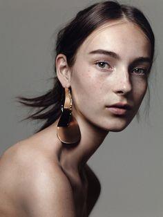 Model Julia Bergshoeff by Craig McDean