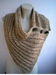 Items similar to Camel cloured Circle Scarf mixed Wool Soft Cowl Woman Circle Scarf Asimetric Scarflet on Etsy Crochet Scarves, Crochet Shawl, Crochet Clothes, Knit Crochet, Loom Knitting, Knitting Patterns, Crochet Patterns, Knitting Projects, Crochet Projects