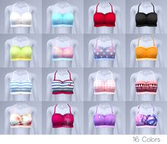 Today, I made Halter top bikini for you _(:3JL)_ ❤ Inspiration this cc from here ( > ww