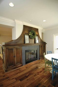 LOVE these floors... and would love the fireplace open on both sides!!