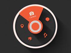 Round Toolbar #illustration #flat #interface