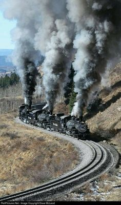 Train Tracks, Train Rides, Motor A Vapor, Old Steam Train, Railroad Pictures, Old Train Pictures, Railroad Photography, Train Engines, Old Trains