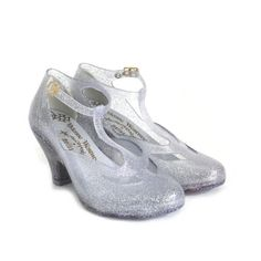 Mary Jane Silver Shoes (150 AUD) ❤ liked on Polyvore featuring shoes, pumps, heels, scarpe, footwear, mary jane pumps, silver high heel shoes, high heel mary janes, t strap mary jane pumps and silver high heel pumps