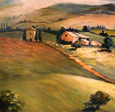 Tuscan Country by Escape Artists Studio Oil ~ 12 x 12