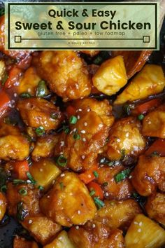 Sweet and Sour Chicken made healthy with low fodmap, paleo ingredients! Sweet and Sour Chicken made healthy with low fodmap, paleo ingredients! Healthy Sweet Snacks, Healthy Recipes, Diet Recipes, Cooking Recipes, Cooking Fish, Cooking Chef, Healthy Sweets, Egg Recipes, Grilling Recipes