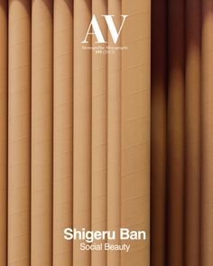 AV Monografía. N. 195 (2017). Shigeru Ban Social Beauty N biblioteca:http://kmelot.biblioteca.udc.es/search~S1*gag?/mav/mav/1%2C28%2C85%2CB/frameset&FF=mav+monografias+av+monographs&1%2C1%2C Sumario:https://dialnet.unirioja.es/servlet/revista?codigo=2961