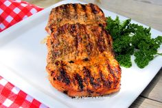 Miz Helen's Country Cottage: Grilled Herb Pork Chops
