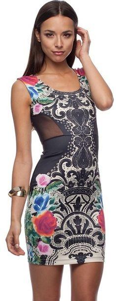 GUESS C S Garden Riot Body Con Dress on shopstyle.com.au