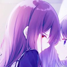 Bff Girls, Girls In Love, Anime Love Couple, Cute Anime Couples, Yuri, Matching Profile Pictures, Profile Pics, Anime Galaxy, Anime Best Friends