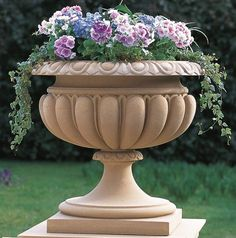 Haddonstone is renowned for quality, british made cast stone garden ornaments. Brighten up your garden or home with our elegant Diy Garden Fountains, Garden Urns, Fenced Garden, Outdoor Fountains, Stone Planters, Urn Planters, Styrofoam Art, Backyard Water Feature, Victorian Flowers