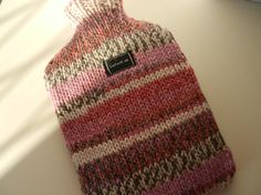 hot water bottle cover knitted fair isle style multi by CraftyMrsP, $22.50