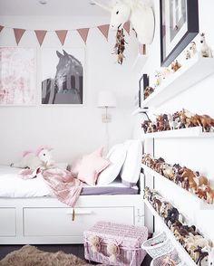 Es ist ja der Wahnsinn wieviele Nachrichten mich wegen dem am Freitag… – décor à la maison, conception de la salle et plus Horse Themed Bedrooms, Bedroom Themes, Girls Bedroom, Brimnes Bed, Animal Bedroom, Pink Room, Little Girl Rooms, Kid Beds, Bed Design
