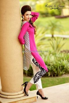 Riffat and Sana Eid Collection 2013 for Women 007....love the detail design on d legs