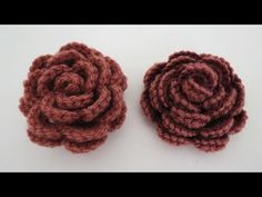 Rose häkeln * Anleitung * Crochet Rose [eng sub], My Crafts and DIY Projects                                                                                                                                                                                 Mehr