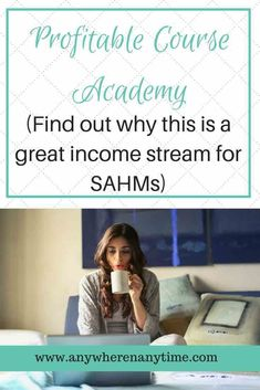 Are you looking for a passive income stream you can launch from home? Profitable Course Academy is a great resource for SAHMs who have skills or expertise they want to teach others. Work From Home Business, Online Work From Home, Work From Home Moms, Business Ideas, Online Psychology Courses, Online Courses, Online Careers, New Parent Advice, Mom Advice