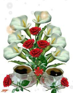 99846923 Cup of love Good Morning Arabic, Good Morning My Love, Good Morning Coffee, Good Morning Flowers, Good Morning Images, Beautiful Flowers Wallpapers, Beautiful Rose Flowers, Pretty Wallpapers, Ivy Flower