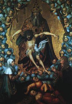 Lucas the Elder  The Trinity  -  Oil on wood  Museum der Bildenden Künste, Leipzig