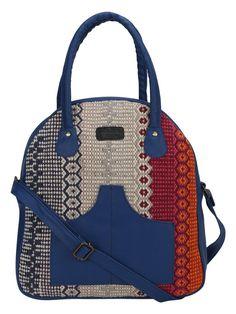 Multi Color Kilim Faux Leather Arch Bag
