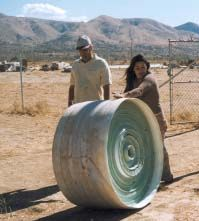 Roll of Superadobe unfilled tubing for earth building,  cob house.