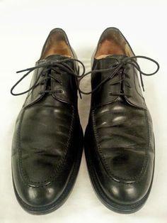 Mercanti Fiorentini Black Leather Classic Dress Oxfords Shoes 10.5 M Orig $250 #MercantiFiorentini #Oxfords