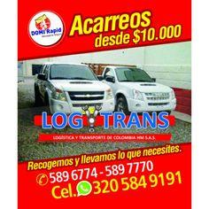 Ahora Domi Rapid en alianza con LOGYTRANS le presentamos el Servicio DOMI CARGA para llevar y traer todo lo que necesites en nuestras camionetas. CONTACTENOS: What: 3205849191 Fijos: 0355896774            0355897770  Gracias por elegirnos @Domirapid Valledupar