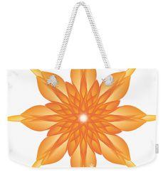 Surreal Weekender Tote Bag featuring the digital art Flower Unus - Abstract Art Print - Fantasy - Digital Art - Fine Art Print - Flower Print by Ron Labryzz