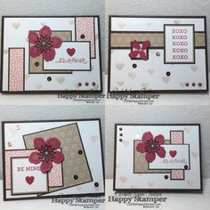 2016  VIDEO TUTORIAL -   One Sheet Wonder, 4 Cards from one 6 x 6 Sheet of Paper…
