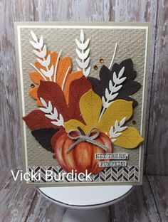 Thanksgiving Cards, Holiday Cards, Christmas Cards, Atc Cards, Stampin Up Cards, Halloween Cards, Fall Halloween, Leaf Cards, Stampin Up Christmas