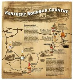 Kentucky-Bourbon-Trail Bourbon is something Kentucky is well known for. How much tourism is brought to the state through the Trail? What age groups go on it? Is is mainly younger people or older people? How did Kentucky become the bourbon state? Whiskey Trail, Bourbon Whiskey, Scotch Whiskey, My Old Kentucky Home, Kentucky Derby, Kentucky Hiking, Whisky, Bourbon Tour, Us Road Trip