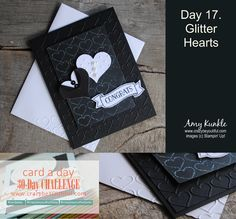 Wedding card, heart punch art, Happy Hearts embossing folder, #cardmaking #crazybeyoutiful30day