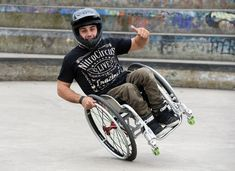 Don't let Aaron Fotheringham hear a word of sympathy. #Wheelchair #SpinaBifida #Athlete