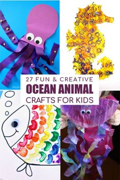 Check out these fun Ocean Animal Crafts that kids can do at home to help them explore life under the sea in fun and creative ways.