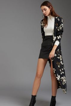 Beautiful Outfits, Cool Outfits, Summer Outfits, Casual Outfits, Kimono Fashion, Modest Fashion, Fashion Outfits, Womens Fashion, Black Kimono Outfit