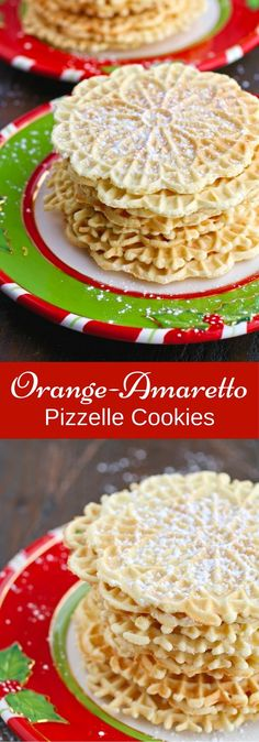 Nothing beats tradition! Orange-Amaretto Pizzelle Cookies are a wonderful holiday treat!