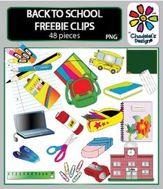 This freebie contains school clips, B&W and backgrounds included.FOR PERSONAL & COMMERCIAL USE - Please, read the instructions which are included in the set. -----------------------------------------------------------This set includes:  - school bag                          - sharpener - pencil case                         - stapler - school bus                          - sheet of paper - school                                - laptop - pencil                                 - whiteboard...