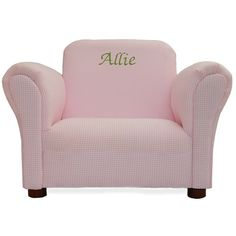 The KEET Personalized Kids Mini Chair Lavender Gingham is a customizable chair that makes a perfect gift for your little one. This children's chair. Gingham Fabric, Pink Gingham, Playroom Furniture, Kids Furniture, Personalized Kids Chair, Black Metal Chairs, Mini Chair, Toddler Chair, Kids Seating