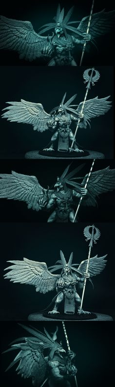 Bird daemon. Looks similar in style to Tzeentch Lord of Change