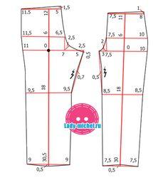 выкройка брюк для девочки на 2 года