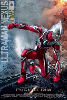 Fictional Team Japan in Pacific Rim - Ultraman Nexus Pacific Rim Jaeger, Giant Monster Movies, Power Rangers Megazord, Battle Robots, Hero Time, Japanese American, Joker And Harley Quinn, Godzilla, How To Memorize Things