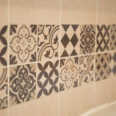 Our tile stickers have a real authentic look. Easily, and without a professional you can upgrade the insurer or shower mirror tiles decorated your choice. WALL TILE PACKS: For Tiled Areas. Mirror Tiles, Floor Stickers, Tub Tile, Tile Floor, Design Your Kitchen, Wall Tiles, Vinyl Backsplash, Tile Decals, Bathroom Tile Stickers
