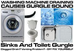 Washing Machine Draining Causes Sinks And Toilet To Gurgle