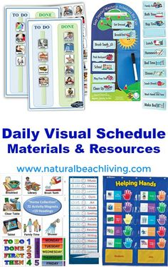 Perfect Daily Visual Schedule Materials & Resources, Autism and special…