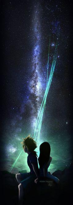 Final fantasy VII fanart Tifa and cloud full HD print here --->displate.com/displate/115906/