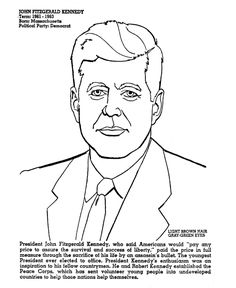 find this pin and more on president quilt kennedy coloring page